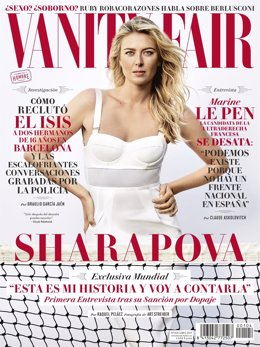 Sharapova en la portada de Vanity Fair