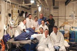 Nace un bebé a bordo de la fragata española 'Canarias'
