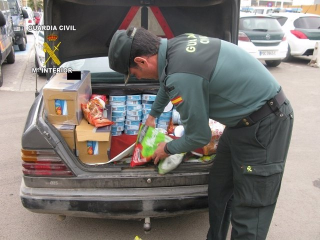 Alimentos incautados en Melilla