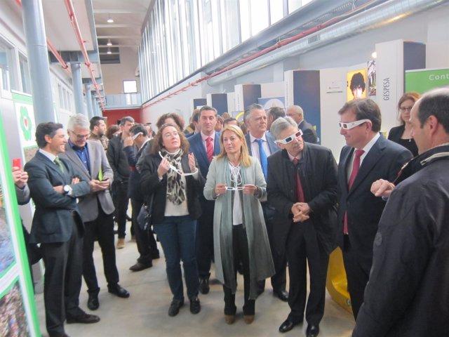 Fernández Vara en la inauguración de Expoenergea en Cáceres