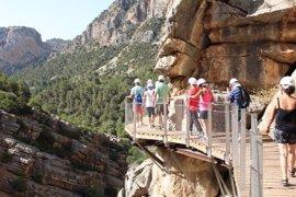 El Caminito del Rey cierra sus dos primeros años con 600.000 visitantes, el 69% extranjeros