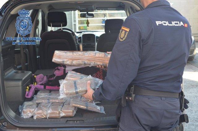 Prisión para un hombre que transportaba 212 kilos de hachís con destino Francia