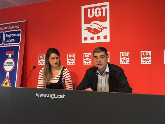 Afra Blanco y Josep Sancristòfol (UGT)