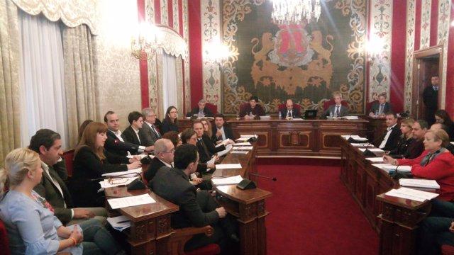 Belmonte se dirige al pleno, sentada a la izquierda de Sepulcre