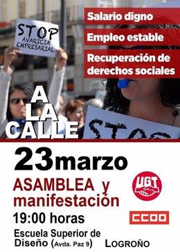 Asamblea y Manifestación por la recuperación del poder adquisitivo
