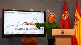 """El Mar Menor mejora sus niveles de turbidez y el Gobierno regional es """"optimista"""" respecto a su recuperación"""