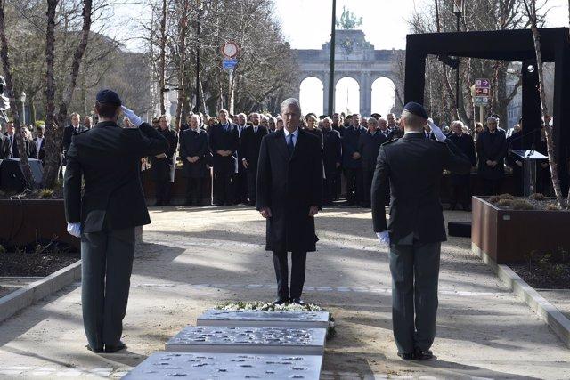 Rey Felipe de Bélgica en aniversario de atentados de Bruselas