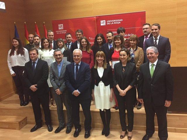 Entrega de los premios Consejo Social de la UR