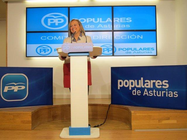 La presidenta del PP de Asturias, Mercedes Fernández,