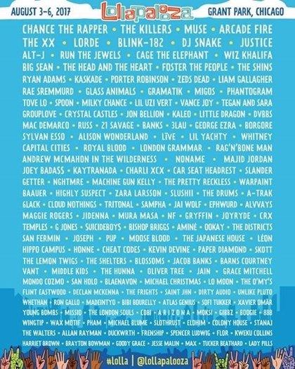 ¿El mejor festival del mundo en 2017?: Lollapalooza desvela su brutal cartel