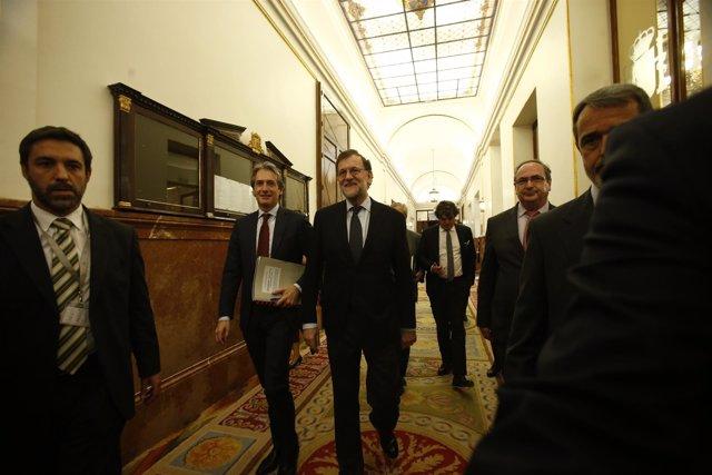 Rajoy e Iñigo de la Serna en el Congreso