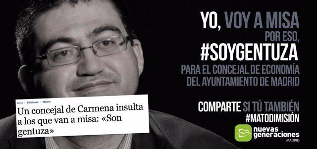 Campaña de NNGG 'Yo Voy a Misa #soygentuza'