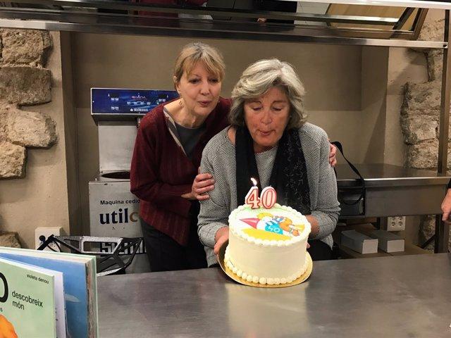 Asun Esteban y Carlota Goyta celebran los 40 años del personaje Teo