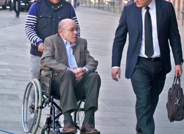 Fèlix Millet llegando al juicio en la Ciudad de la Justicia en la cuarta jornada