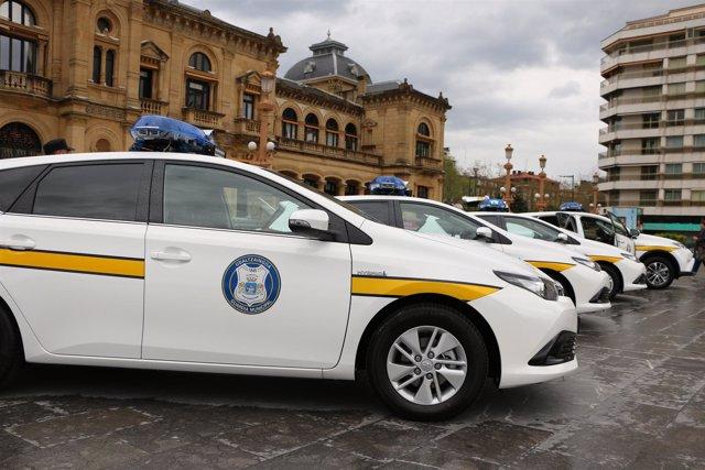 Vehículos híbridos de la Guardia Municipal de San Sebastián