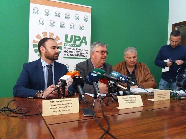 El secretario provincial de UPA en Huelva, Manuel Piedra.