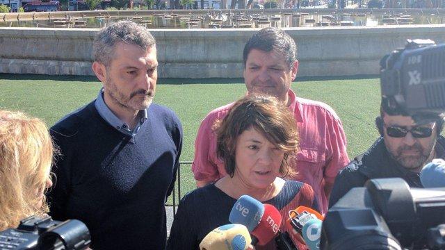 Urralburu, Giménez y Andrés Pedreño de Podemos