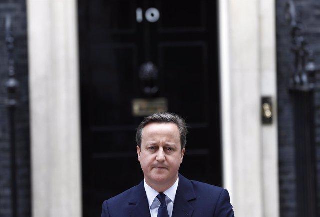El primer ministro de Reino Unido, David Cameron, en Downing Street