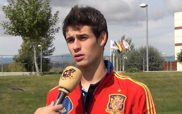 El portero del Athletic Club Kepa Arrizabalaga con la selección española
