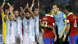 Uruguay no quiere añorar a Suárez ante Brasil y Argentina quiere la plaza mundialista de Chile