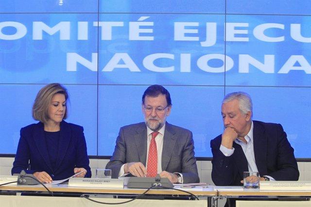 Cospedal, Rajoy y Arenas