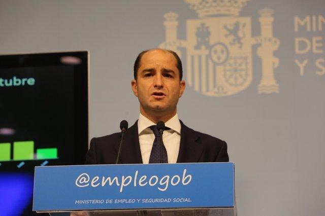 Juan Pablo Riesgo presenta los datos de paro