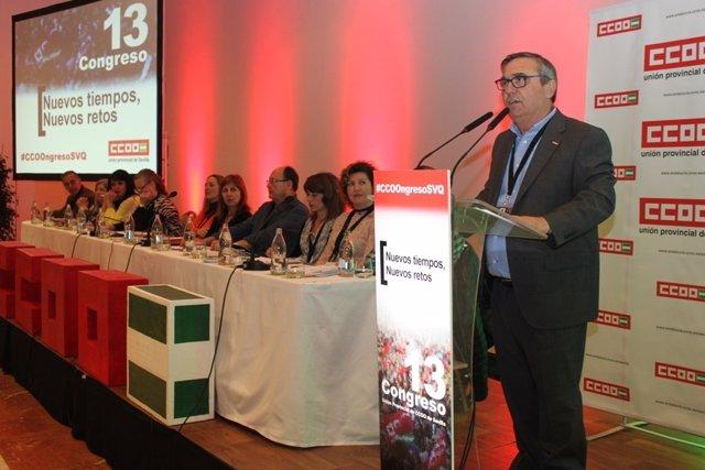 Alfonso Vidán, reelegido secretario general de CCOO Sevilla