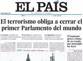 Las portadas de los periódicos de hoy, jueves 23 de marzo de 2017