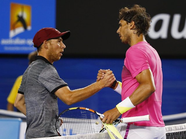 Dudi Sela y Rafa Nadal en el Open de Australia 2015
