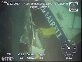 El robot de Salvamento Marítimo capta las primeras imágenes del pesquero hundido