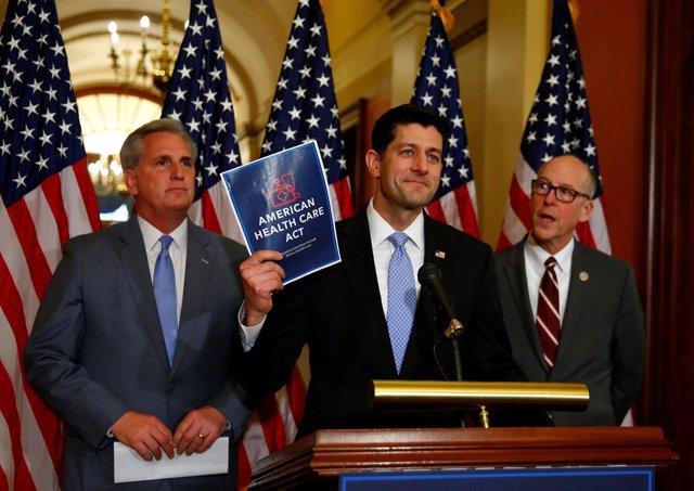 El republicano Paul Ryan habla sobre la derogación del Obamacar
