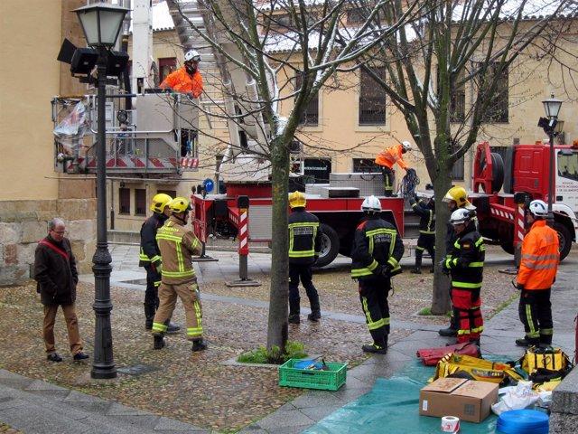 Salamanca.- Bomberos asistentes al curso