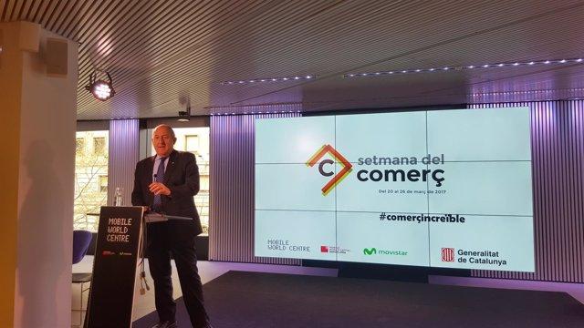 El secretario de Empresa y Competitividad de la Generalitat, Joan Aregio