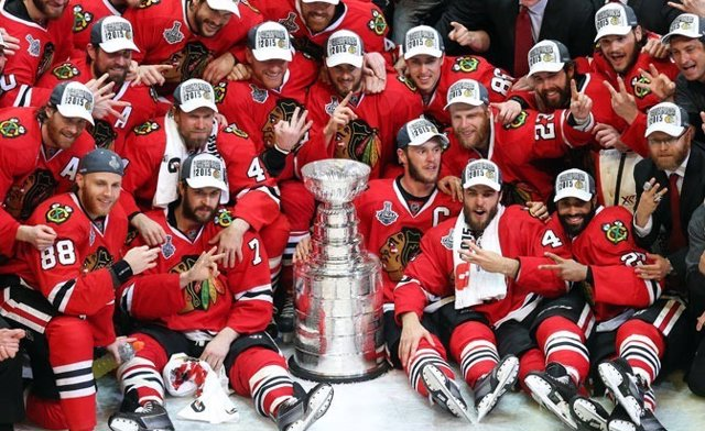 Los Blackhawks celebran la Stanley Cup