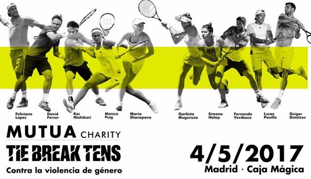 Cartel promocional del Mutua Charity Tie Break Tens