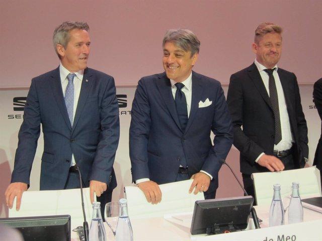 El presidente de Seat, Luca de Meo, presenta los resultados