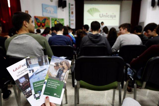 Jornadas Educación financiera para jóvenes de Fundación Unicaja y Unicaja Banco.