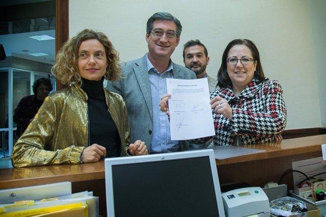 Meritxell Batet, Nacho Prendes y María Jesús Moro