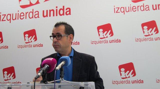 Crespo (IU) en rueda de prensa