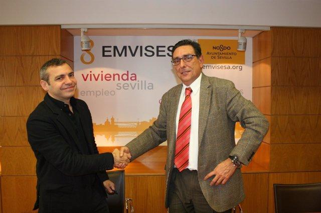 Emvisesa y Caixabank avanzan en la cesión de las viviendas.