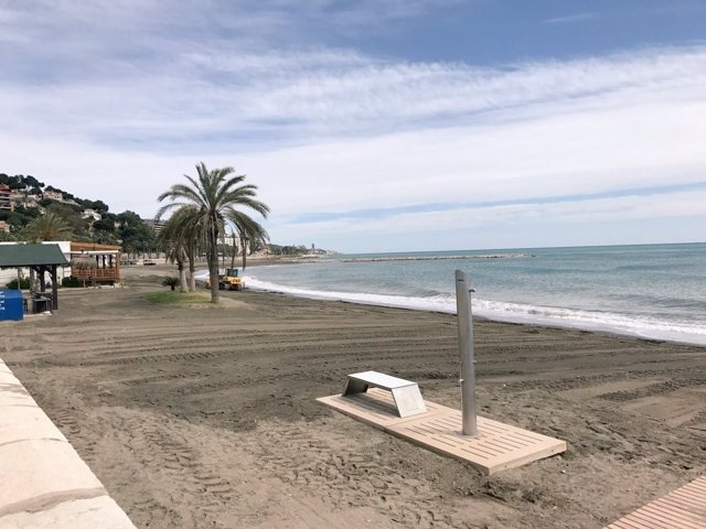 Playa caleta obras temporal malaga febrero lluvias