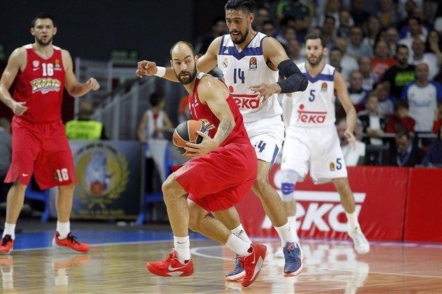 Spanoulis y Ayón en el Real Madrid - Olympiacos