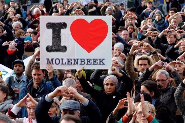 Homenaje en el primer aniversario de los atentados de Bruselas