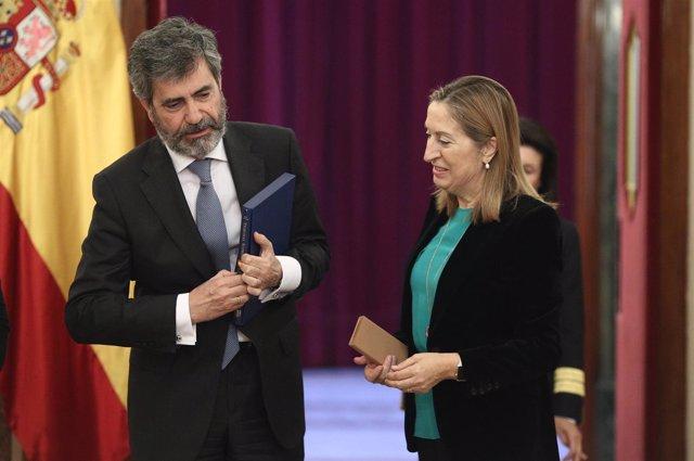 Carlos Lesmes y Ana Pastor