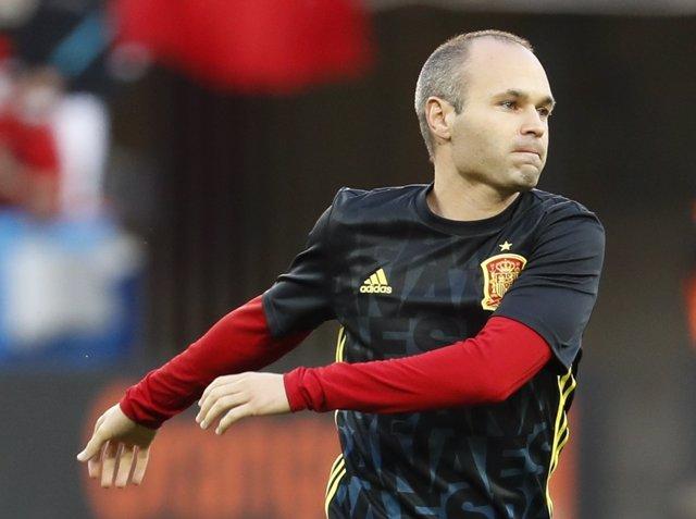 El Jugador De La Selección Española Andrés Iniesta