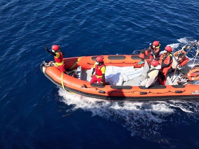 Rescate de Proactiva Open Arms en el Mediterráneo