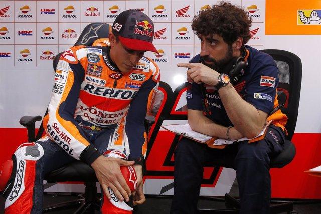 El piloto español de MotoGP Marc Márquez Repsol Honda