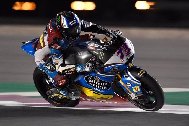 Álex Márquez en los libres del GP de Catar de Moto2