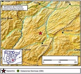 Registrado un terremoto de magnitud 2,6 en Nerpio