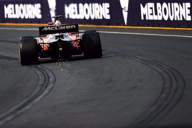 Fernando Alonso (McLaren) en Melbourne